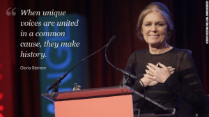Gloria Steinem's message to girls around the world