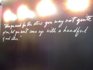 """Burnett's most memorable quotes """" When you reach for the stars ..."""
