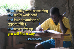 "Quote: ""If you really want something, and really work hard, and take ..."