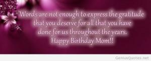 Happy Birthday Mom Images For Facebook Happy birthday mom quotes for