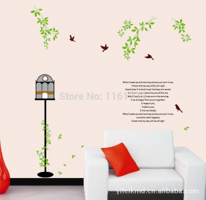 adesivo de parede Home Decor Bird Wall Stickers Quotes and Sayings ...