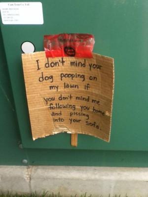 Nice neighbor note