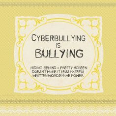 Cyberbullying, it's not a game! It's your Life!!!