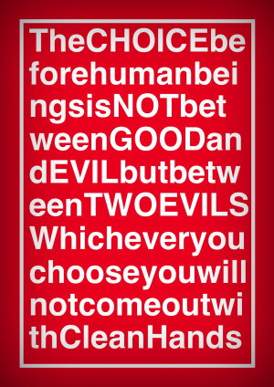 George Orwell Quote on Good and Evil