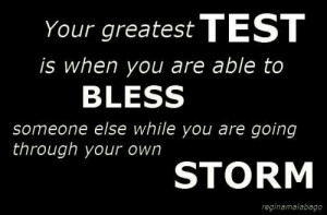 He tests us daily. Uplift others, be the reason behind someone's smile ...