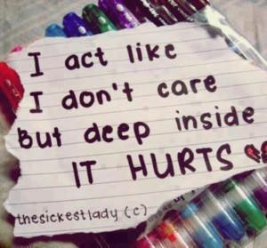 deep inside it hurts