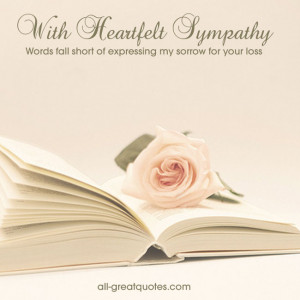 Quotes for Sympathy Cards Sayings