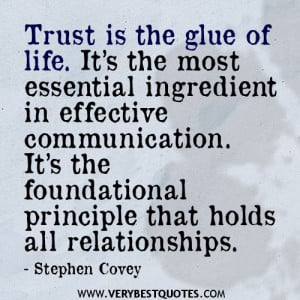 ... . It's The Foundational Principle That Holds All Relationships