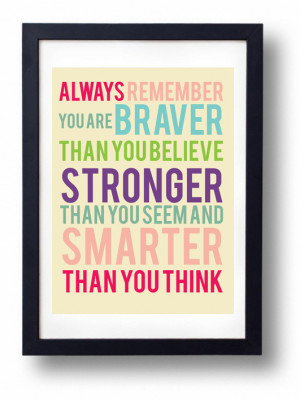 You are Braver than you Believe Stronger than You Seem and Smarter ...