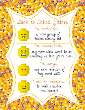 Back to School Jitters Linky Party!