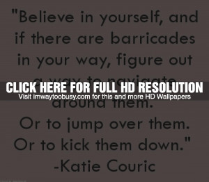 Monday Morning Inspiration Quote - Katie Couric