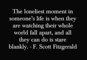 Loneliness- The Great Gatsby quote
