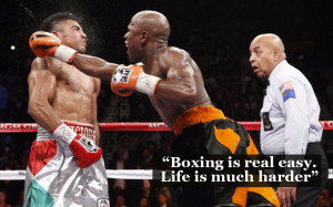 Floyd Mayweather vs Manny Pacquiao: Pretty Boy in quotes and pictures