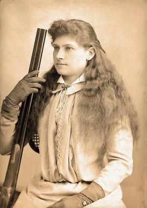Annie Oakley (1860-1926), born Phoebe Ann Moses was an American ...