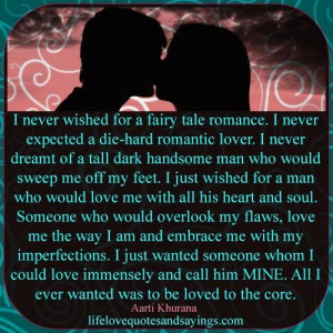 Never Wished For A Fairy Tale Romance..