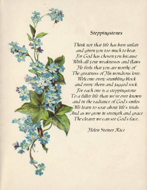Forget Me Nots ~ Steppingstone Poem
