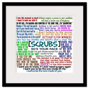 ... > Wall Art > Framed Prints > Funny Scrubs Quotes Framed Print