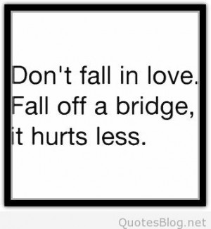 Don't fall in love funny quote