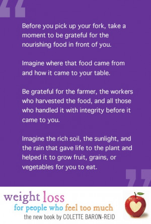 Quote from Colette Baron-Reid's new book Weight Loss For People Who ...