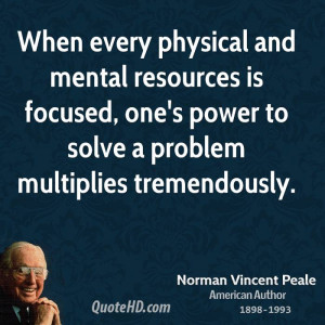 Norman Vincent Peale Power Quotes