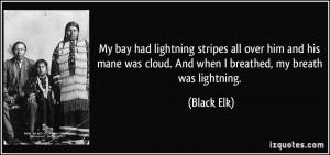 ... was cloud. And when I breathed, my breath was lightning. - Black Elk