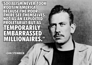 "liberalreader:""Socialism never took root in America because the poor ..."