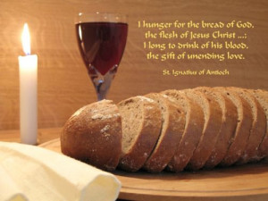 St Ignatius of Antioch on the Eucharist 105 AD Bishop of Antioch where ...