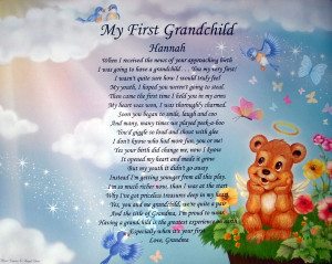 Love My Granddaughter Poems Personalized 1st grandchild
