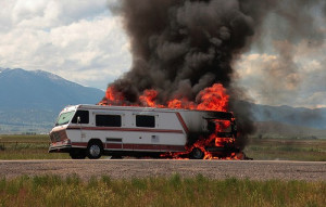 Make sure your RV insurance quotes cover fire damage! Used under a ...
