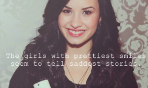 demi lovato, girl, quotes, smile, text