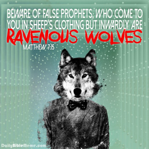 Beware of Wolves in Sheep 39 s Clothing
