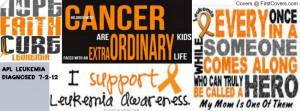 Leukemia Awareness Facebook Covers