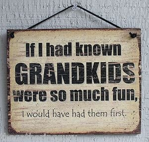 Wood Signs with Sayings | ... FUN Grandparent Funny Humor Quote Saying ...
