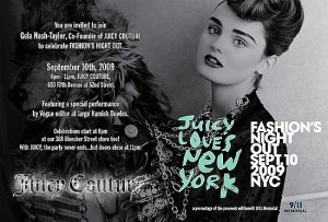 Please attend Fashion's Night Out. It's gonna be a extravagant event ...