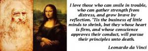 quote from Leonardo Da Vinci.