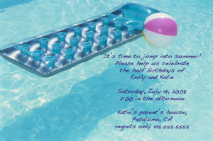 Come Party With Me: Pool Party — Invite