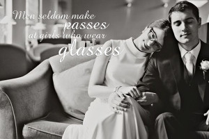 Wearing Glasses On Your Wedding Day…