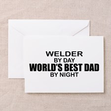 World's Best Dad - Welder Greeting Cards (Pk of 10 for