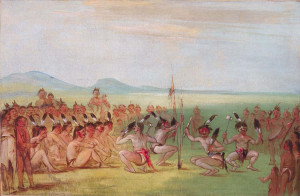 Eagle Dance, Choctaw, George Catlin, 1835-7
