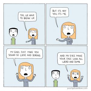 Break Up Cartoon Graphic