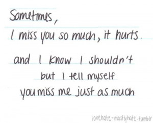 lies #believe #love #hate #i miss you