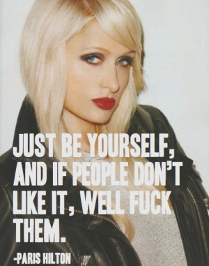 paris hilton, quote