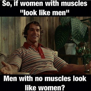 BOM! #arnold #quote #muscles #women #nomuscles #men #fitness # ...