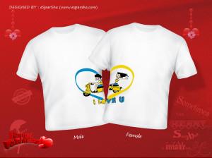 view product details paint our love couple t shirt