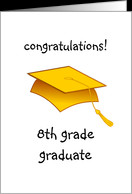8th Grade Graduation Congratulations card - Product #402347