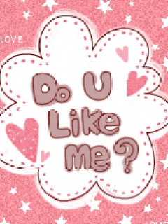 Do You Like Me Wallpaper 240x320 girly, pink, quotes, words,