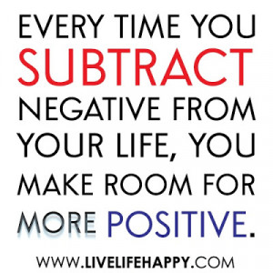Negative to Positive.