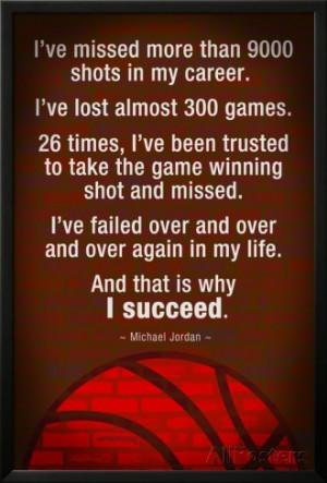 Michael Jordan Succeed Quote Poster at AllPosters.com