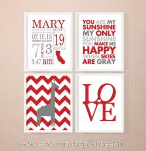 birth announcement, wall art baby names with baby quotes, new baby ...