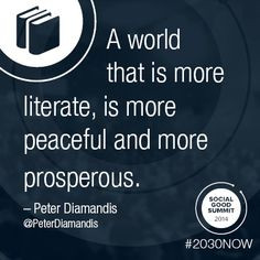 Quote from Peter Diamandis. #2030Now #SocialGood Design by Liora ...